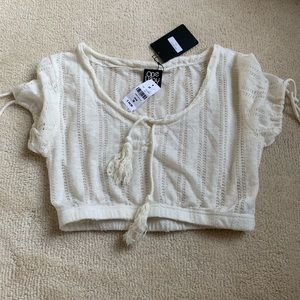NWT LF Crochet Crop Top